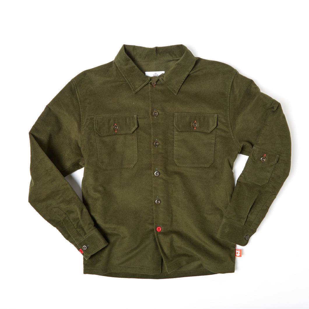 Paxton 7 Racing green moleskin over shirt