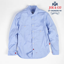 Load image into Gallery viewer, Talbot 05 sky blue oxford cotton penny round work shirt