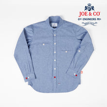 Load image into Gallery viewer, JCS-TALBOT-020 6oz LIGHT CHAMBRAY PENNY COLLAR WORK SHIRT