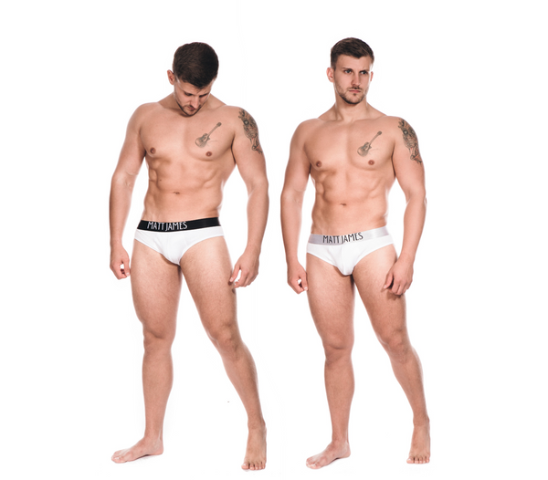 2 PACK - MENS WHITE BRIEFS