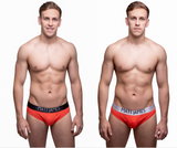 2 PACK - MENS RED BRIEFS