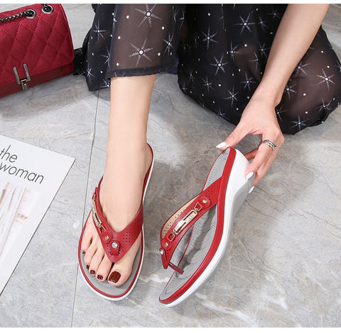 WOMEN SOFT ARCHED CASUAL SLIPPERS
