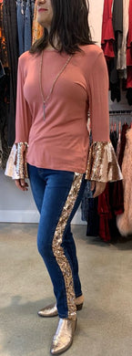 A Strip of Bling Jeans