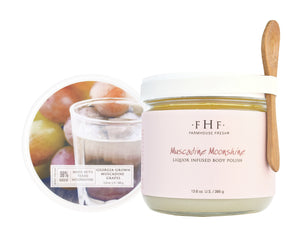 FarmHouse Fresh Muscadine Moonshine Liquor Infused Body Polish