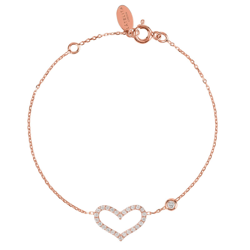 Open Love Heart Bracelet