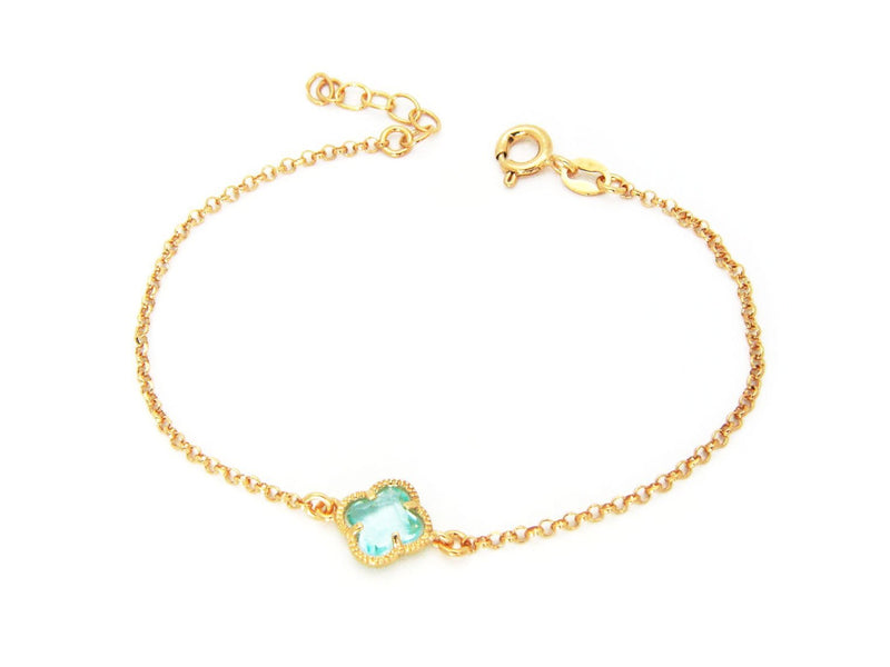 Golden Aqua Crystal Bracelet