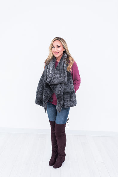 Charcoal Sherpa Vest