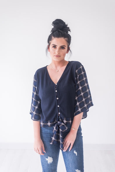 Love on the Weekend Plaid Top