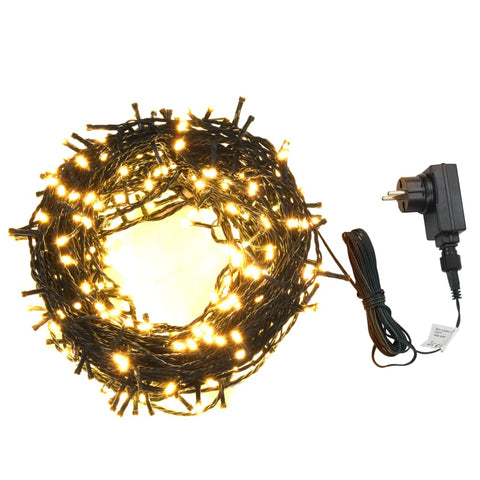 Girlianda, 400 LED, vid./lauk., IP44, 40m, šilta balta sp.