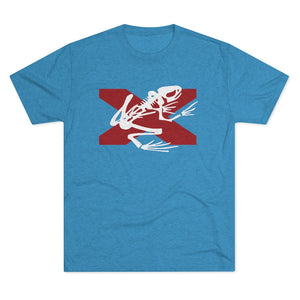 Bama Bone Frog – Men's Tri-Blend Crew Tee
