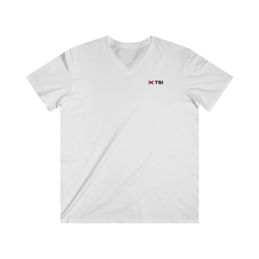 TSI Logo - Men's Fitted V-Neck Short Sleeve Tee