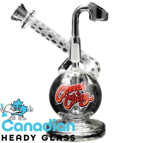 Cheech & Chong Glass 5 Inch Tall Mr. Neatnik Concentrate Bubbler W/10mm Joint