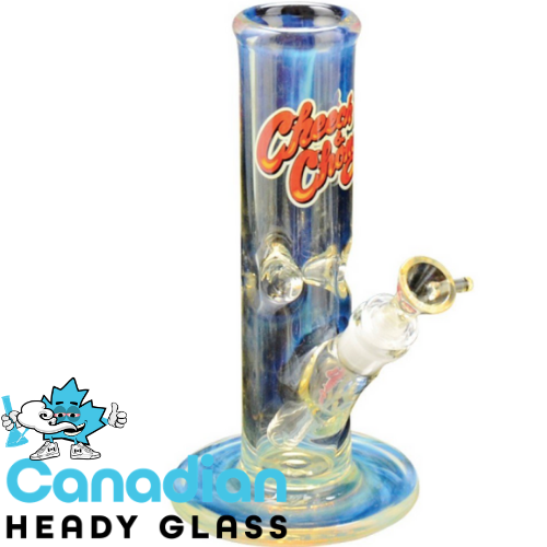 Cheech & Chong Glass 9 Inch Tall 7mm Thick Pedro Straight Tank Tube With 14mm Joint