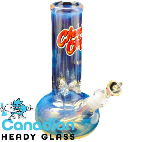 Cheech & Chong Glass 9 Inch Tall 7mm Thick Ralph Bubble Tank Tube W/14mm Joint
