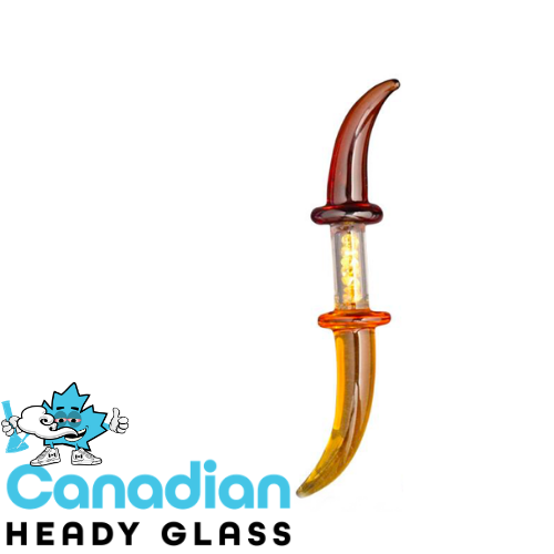 Red Eye Glass Double Dabber W/Built In Bling