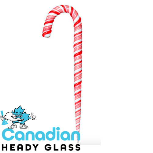 Red Eye Glass Candy Cane Dabber