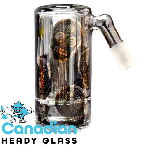 Red Eye Glass 45° Ash Catcher with Full Wrap Decal, Recessed Joint & Wheel Perc