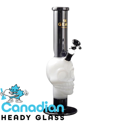 "GEAR Premium 15"" Tall Black & White Skull Tube W/Skull Eyes"