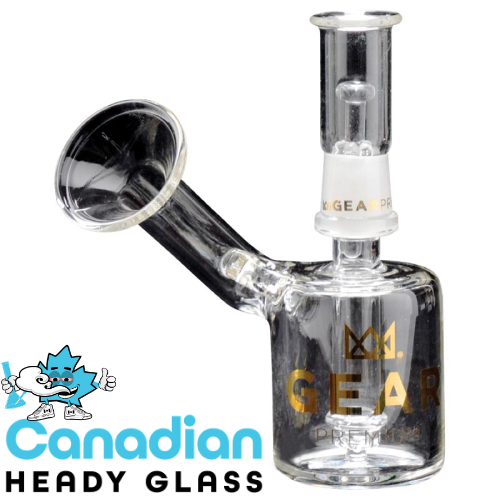 "GEAR Gold 5"" Tall Concentrate Bubbler W/Flared Mouthpiece"