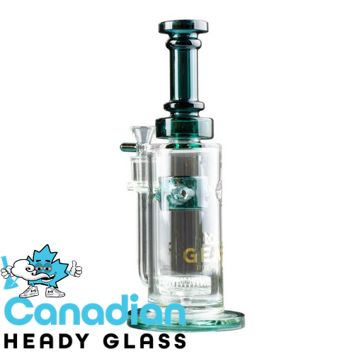 "GEAR Premium 10.5"" Tall Elara Bubbler W/UFO Perc & Swiss Pillar Splash Guard"
