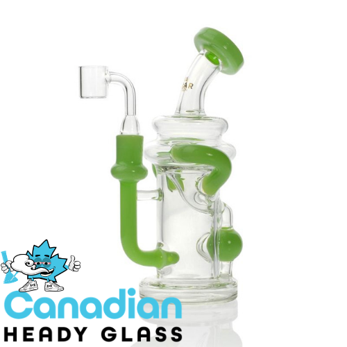 "GEAR Premium 7.5"" Tall Solstice Concentrate Recycler W/Injection Perc & Quartz Banger"