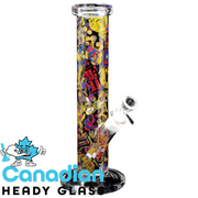 "Red Eye Glass 12"" Tall Robot Straight Tube W/Full Wrap Decal"