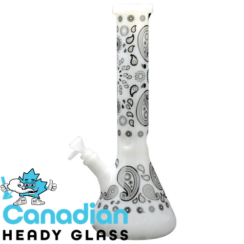 "Red Eye Glass 15"" Tall Paisley Beaker Tube W/Full Wrap Decal"
