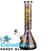 "Red Eye Glass 15"" Tall Robots Beaker Tube W/Full Wrap Decal"