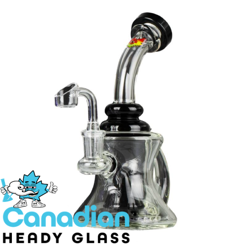 "Red Eye Glass 8"" Tall Zephyr Banger Hanger W/Slitted Cone Perc & Quartz Banger"