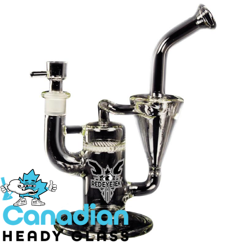 Red Eye Tek 11 Inch Tall Twister Stemless Recycler Bubbler With Tornado Chamber & Honeycomb Perc