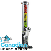 Red Eye Tek 15 Inch Tall Intense Straight Tube W/14mm Joint