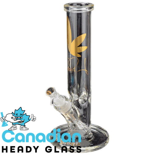 Ross' Gold Glass 12 Inch Tall Cloud 9 Water Pipe W/14mm Joint