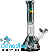 iRie 10 Inch Tall Beaker Tube W/4-Arm Tree Perc