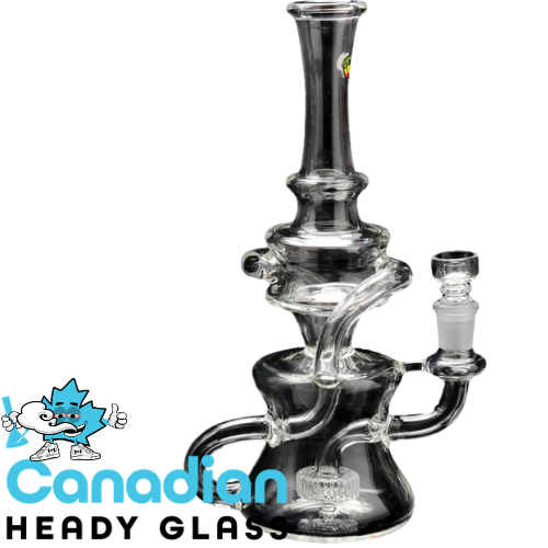"iRie 11"" Tall Chaka Double Klein Recycler W/UFO Perc & Domeless Quartz Nail"