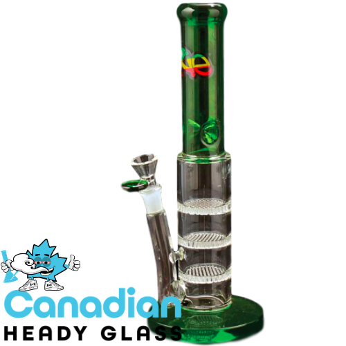 iRie 12 Inch Tall Caicos Step Down Tube with 3 Honeycomb Percs