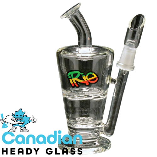 iRie 5 Inch Tall Ease-Up Concentrate Bubbler W/10mm Joint