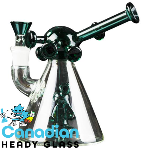 "iRie 6"" Tall Hammered Bubbler W/Showerhead Perc & Nailhead Accents"