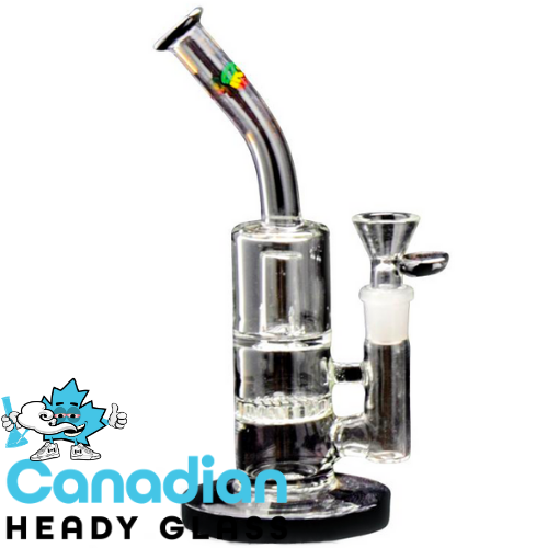"iRie 8"" Tall Irieshun Bubbler W/Honeycomb Perc & Splash Guard"