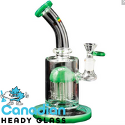 "iRie 9"" Tall Overstand Bubbler W/8-Arm Tree Perc"