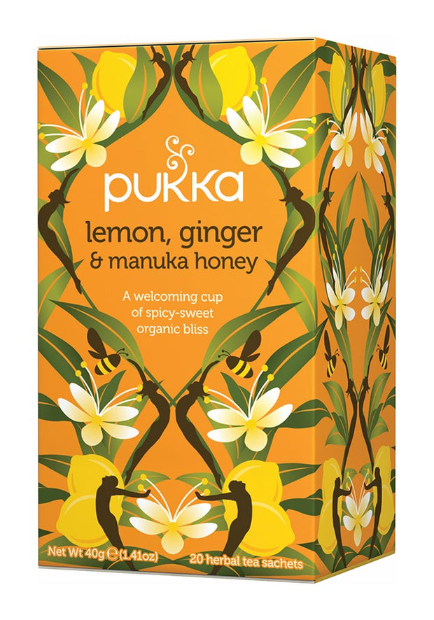 Pukka te - Lemon, Ginger, & Manuka Honey Tea