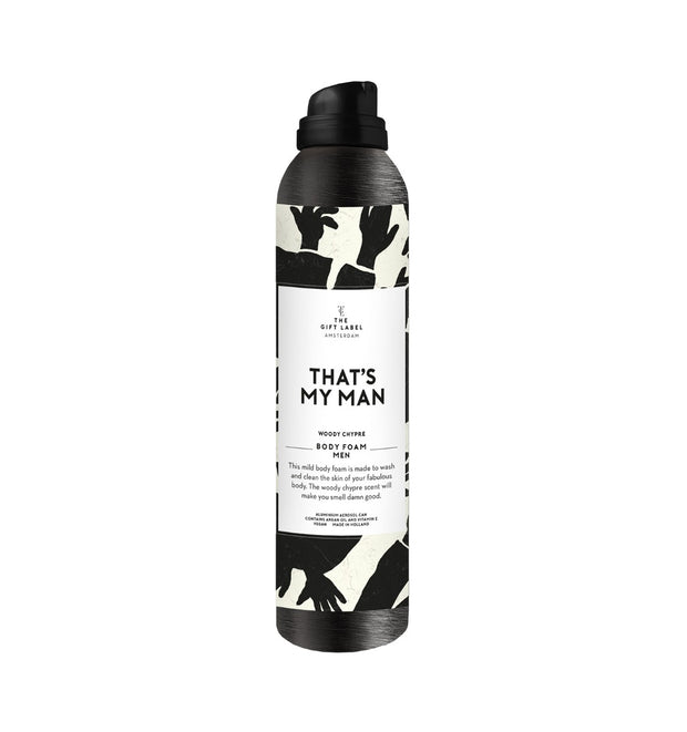 "The Gift Label - Dusj foam/såpe til Herre ""That´s my Man"""