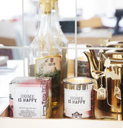 "The Gift Label - Stort Duftlys ""Home Is HAppy"""