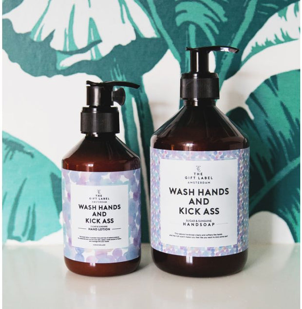 The Gift Label - Håndkrem Wash Hands and Kick Ass