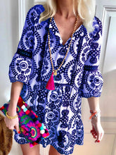 Load image into Gallery viewer, Fashion Half Sleeves Boho Casual Shift Dress