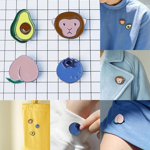 Alloy Avocado Metal Brooch Pins