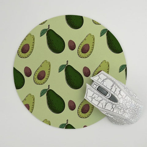 Avocado Mouse Pad 20x20cm Rubber/Round