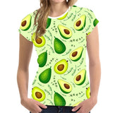 Avocado Womens Tshirts (Plus Sizes Available)