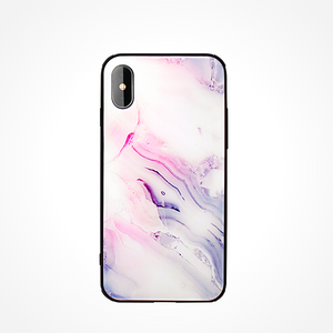 iPhone X & XS mobilskal - Corall Crush Marmor