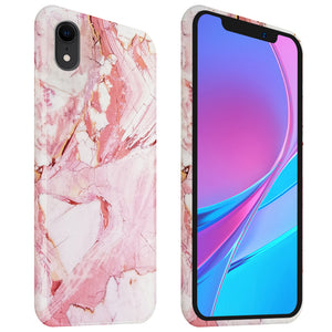 iPhone XR mobilskal - TPU Marble Rose
