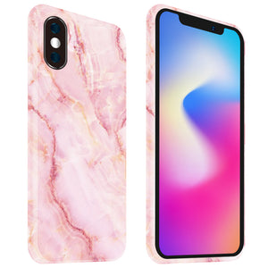 iPhone X mobilskal - Marble Rose